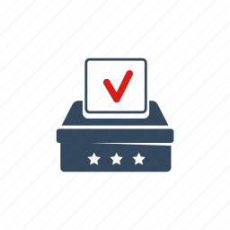 ballot box, congress, elections, parliament, political, president, voting icon