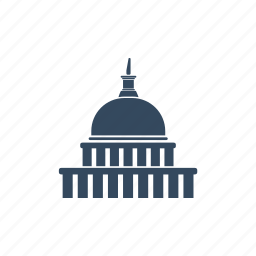 capitol, congress, elections, parliament, political, president, voting icon