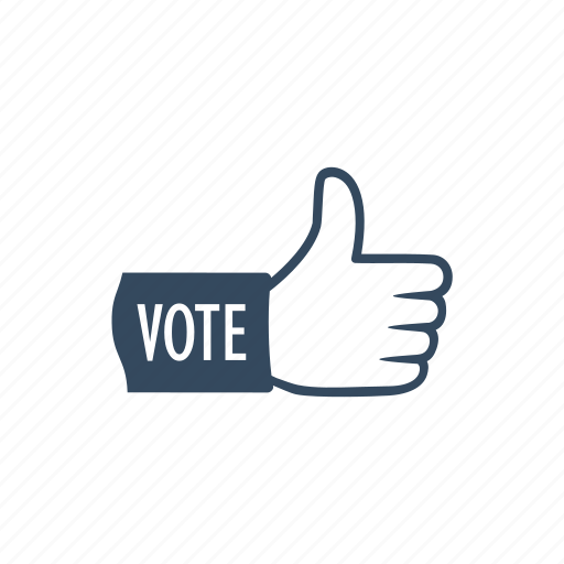 democratic, elections, hand, parliament, political, president, voting icon