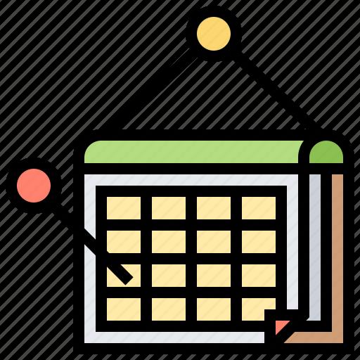 Agenda, calendar, date, reminder, schedule icon - Download on Iconfinder