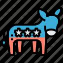 ballot, casting, democratic, donkey, ranking