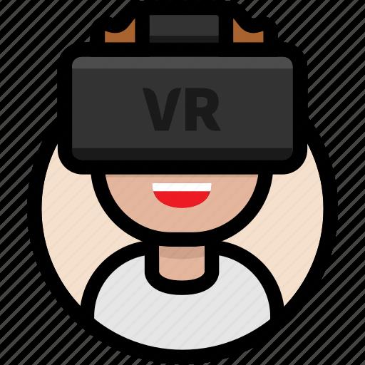avatar, male avatar, virtual reality, vr, vr glasses, vr headset icon