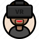 avatar, people, virtual reality, vr, vr glasses, vr headset