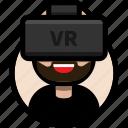 avatar, beard, male avatar, virtual reality, vr, vr glasses, vr headset