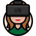 avatar, female avatar, virtual reality, vr, vr glasses, vr headset