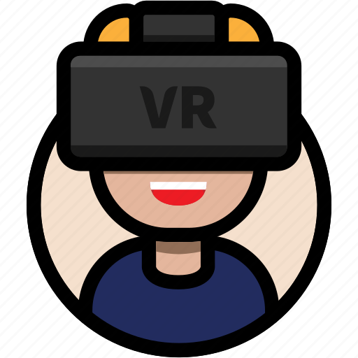 avatar, male avatar, virtual reality, vr, vr glasses, vr headset icon