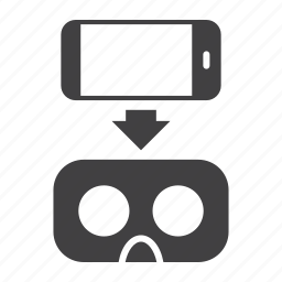 glasses, mobile, reality, smartphone, virtual, vr icon