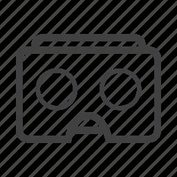 cardboard, glasses, goggle, reality, virtual, vr icon
