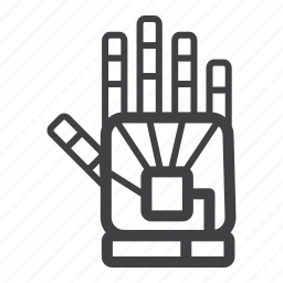 controller, data, glove, reality, virtual, vr icon