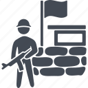 army, blockhouse, defense, military, peace, war, weapon icon