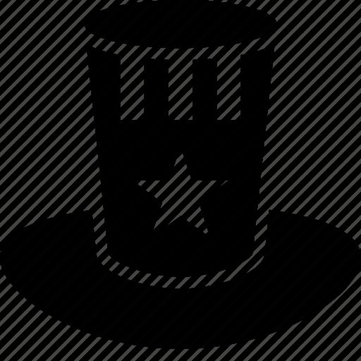 american, hat, head, patriotic, u.s.a. icon
