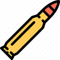 bullet, conflict, military, soldier, war, weapon icon