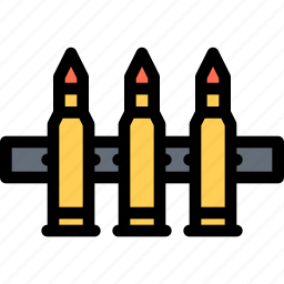 bullets, conflict, military, soldier, war, weapon icon
