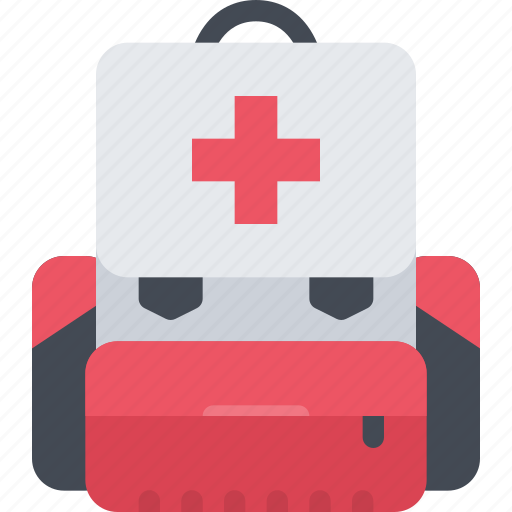 backpack, battle, fighter, medical, soldiers, war, weapons icon