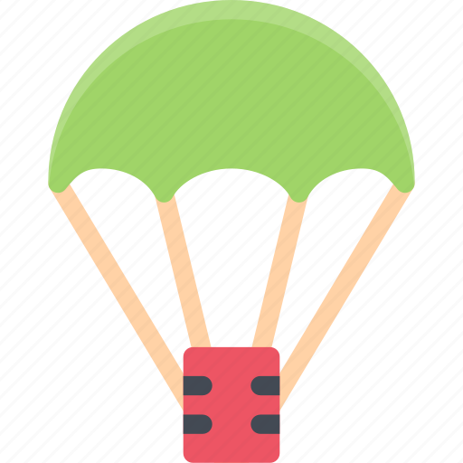 battle, fighter, parachute, soldiers, war, weapons icon