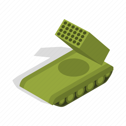 Army, crawler, isometric, military, rocket, war, weapon icon - Download on Iconfinder