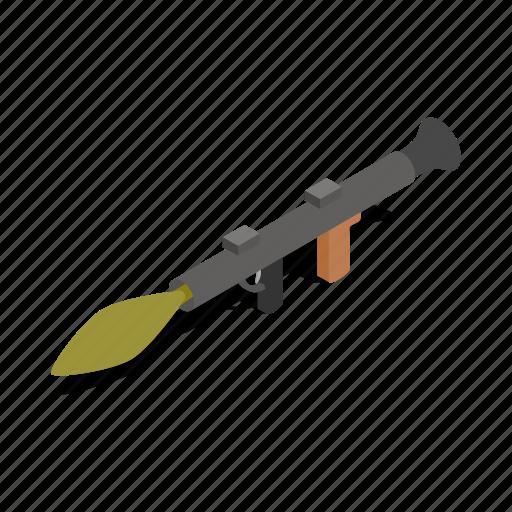 armed, firearm, grenade, gun, isometric, rocket, weapon icon