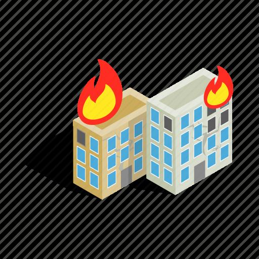 building, destruction, disaster, fire, house, war, window icon