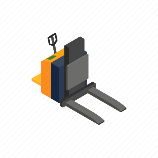 cargo, forklift, industry, isometric, loader, pallet, truck icon