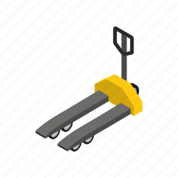 cargo, forklift, industry, isometric, pallet, truck, warehouse icon