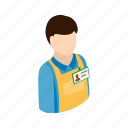 box, industry, isometric, job, man, warehouse, worker icon