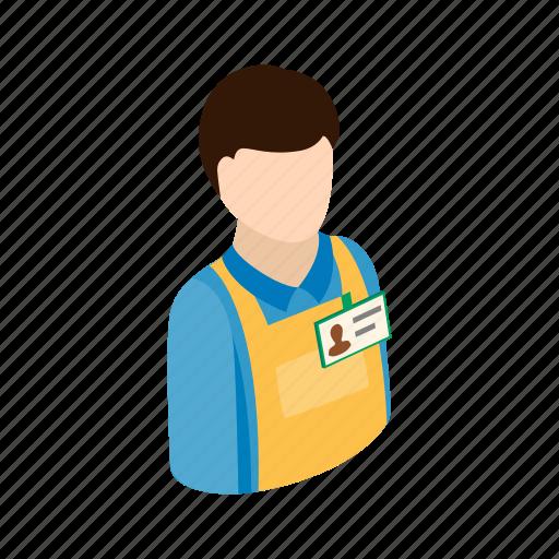 box, industry, isometric, job, man, warehouse, worker icon