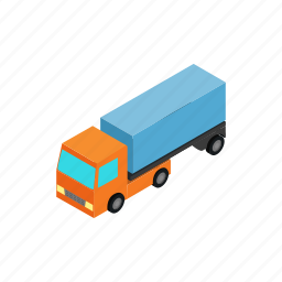 car, cargo, deliveryservice, isometric, logistic, transport, truck icon