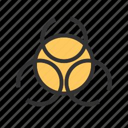 alert, biological, danger, hazard, label, safety, threat icon