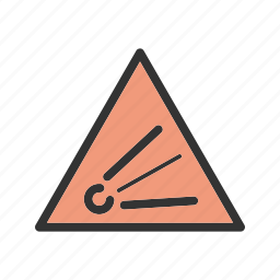 caution, chemical, explosive, lab, safety, sign, warning icon