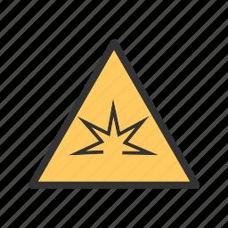danger, flash, light, spark, steel, warning, welding icon