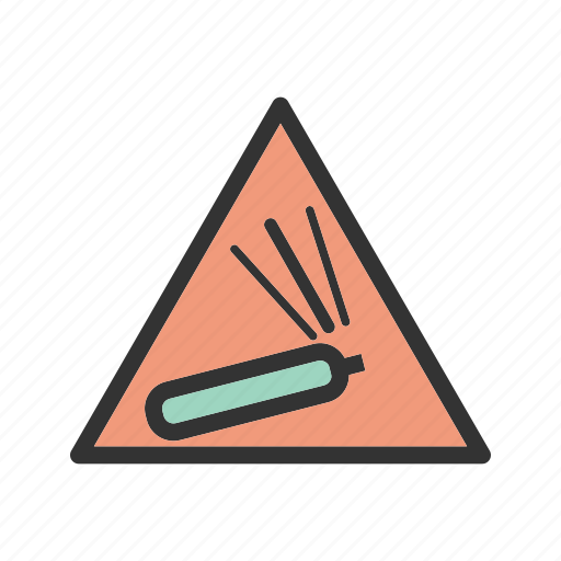 caution, cylinder, gas, hydrogen, pressure, warning, welding icon