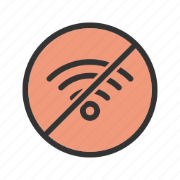 connection, internet, network, no, sign, signal, wifi icon