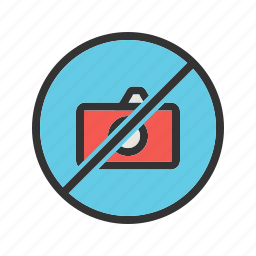 camera, information, photo, picture, prohibited, sign, stop icon
