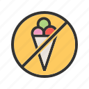 health, ice, information, no, prohibited, sign icon
