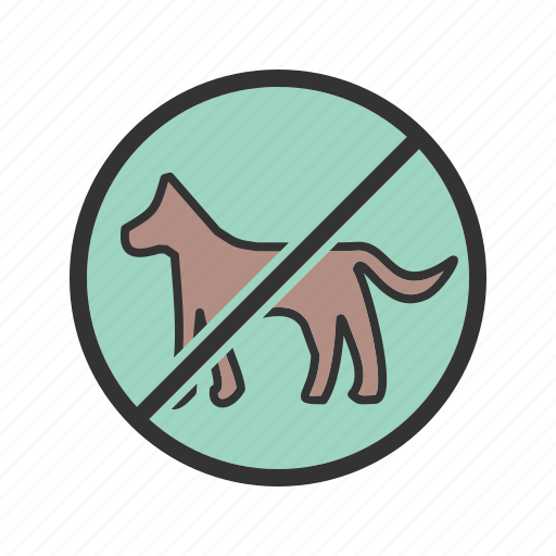 allowed, dog, no, park, pet, pets, sign icon