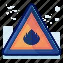 alert, danger, flamable, flame, sign, warning