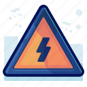 alert, danger, high, sign, voltage, warning icon