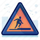 alert, danger, man, sign, warning icon