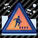 alert, danger, graveyard, man, sign, warning