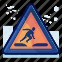 alert, danger, man, running, sign, warning