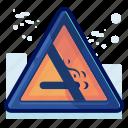 alert, danger, no, sign, smoking, warning icon