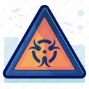 alert, danger, radiation, sign, warning icon