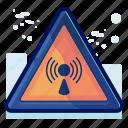 alert, danger, network, radio, sign, warning, wireless
