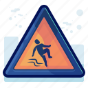 alert, danger, man, sign, slide, warning icon