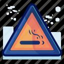 alert, cigarette, danger, sign, smoking, warning