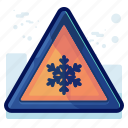 alert, cold, danger, sign, snow, warning icon