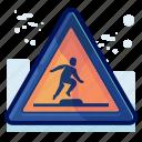 alert, danger, man, sign, step, up, warning