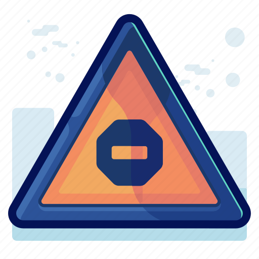 alert, danger, sign, stop, warning icon
