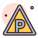 attention, direction, map, parking, warning