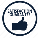 approve, best, guarantee, guaranteed, satisfaction, thumbs, warranty icon